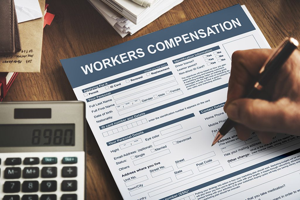 Filling out a workers' compensation claim